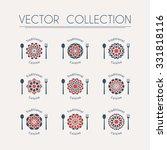 asian food logo templates set.... | Shutterstock .eps vector #331818116