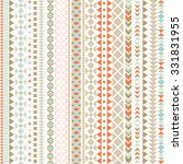 seamless vector tribal texture. ... | Shutterstock .eps vector #331831955