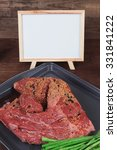 Meat Raw Beef Fillet Chunk On...
