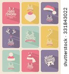 retro vintage minimal long... | Shutterstock .eps vector #331843022
