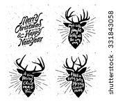 retro vintage minimal merry... | Shutterstock .eps vector #331843058