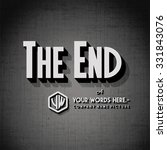 """end credits   """"the end"""" title... 