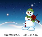 Snowman With Green Head Cover...