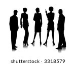 business team   vector | Shutterstock .eps vector #3318579
