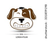 dog face saw tooth smile logo... | Shutterstock .eps vector #331859198
