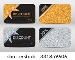 set of golden and silver... | Shutterstock .eps vector #331859606