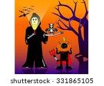 halloween cartoon   Shutterstock .eps vector #331865105
