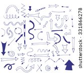 hand drawn arrows for your... | Shutterstock .eps vector #331866278
