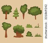 cartoon trees set | Shutterstock .eps vector #331869242