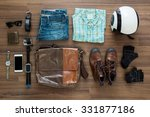 hipster clothes and accessories ... | Shutterstock . vector #331877186