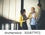 business team coffee break... | Shutterstock . vector #331877972