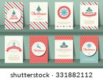 set of  christmas brochures in... | Shutterstock .eps vector #331882112