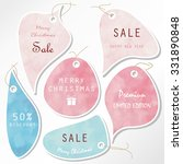 light pink blue tag on...   Shutterstock .eps vector #331890848