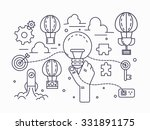 big idea  brainstorming ... | Shutterstock .eps vector #331891175
