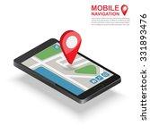 3d isometric mobile gps... | Shutterstock .eps vector #331893476