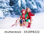 little girl and boy enjoy a... | Shutterstock . vector #331898222