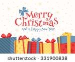 merry christmas illustration. | Shutterstock .eps vector #331900838