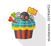 halloween cupcakes flat icon | Shutterstock .eps vector #331906922