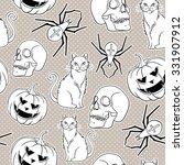 halloween vector seamless... | Shutterstock .eps vector #331907912
