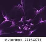 Purple Magic Fractal Bloom Wit...