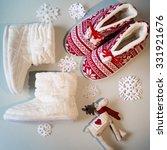 single soft and warm fleece boot   Shutterstock . vector #331921676