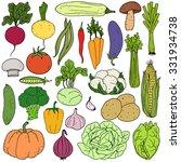 set of fresh healthy hand... | Shutterstock .eps vector #331934738