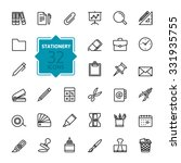 outline web icon set   office... | Shutterstock .eps vector #331935755