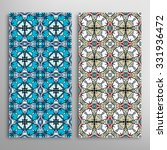 vertical seamless floral... | Shutterstock .eps vector #331936472