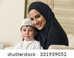arabian family  mother and son...   Shutterstock . vector #331939052