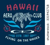 66 hawaii aero club. handmade... | Shutterstock . vector #331942718