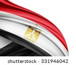 egypt  flag of silk with... | Shutterstock . vector #331946042
