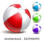 colorful beach ball isolated on ... | Shutterstock . vector #331946492