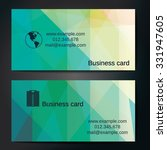 stylish business cards with... | Shutterstock .eps vector #331947605