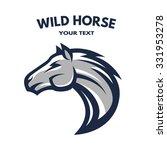 Stock vector horse symbol logo 331953278