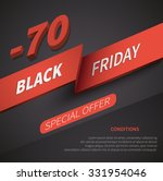 leaflet black friday discount... | Shutterstock .eps vector #331954046