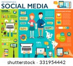 social media infographic set... | Shutterstock .eps vector #331954442