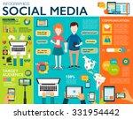 social media infographic set... | Shutterstock .eps vector #331954442