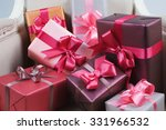 packaged boxes with gifts... | Shutterstock . vector #331966532
