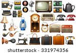 different kind of antiques... | Shutterstock .eps vector #331974356