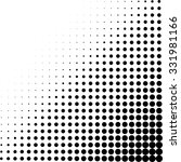 black and white dots halftone... | Shutterstock .eps vector #331981166