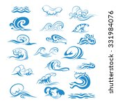 ocean or sea waves  surf and... | Shutterstock .eps vector #331984076
