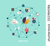 data analytics. flat design. | Shutterstock .eps vector #331984586