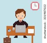 vector pixel art illistration... | Shutterstock .eps vector #331987022