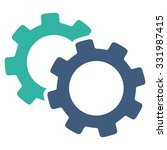 gears vector icon. style is... | Shutterstock .eps vector #331987415
