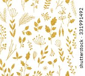 Vector Gold Seamless Pattern ...