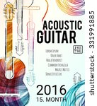 acoustic guitar event design... | Shutterstock .eps vector #331991885