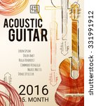 acoustic guitar event design... | Shutterstock .eps vector #331991912
