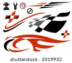 vector icons related to speed... | Shutterstock .eps vector #3319932