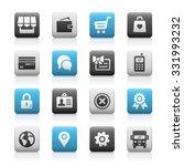 online store icons    matte... | Shutterstock .eps vector #331993232