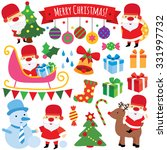 winter christmas clip art set | Shutterstock .eps vector #331997732